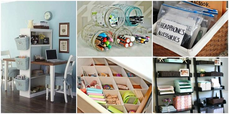 20+ Clever DIY Ways to Organize Your Office In No Time - http://theperfectdiy.com/20-clever-diy-ways-to-organize-your-office-in-no-time/ #DIY