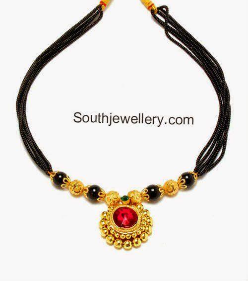 Short Black Beads Necklace