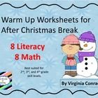 FREEBIE   Get the kids all warmed up with these review worksheets!  Basic skills with winter graphics will get them back in the swing of learning after sever...
