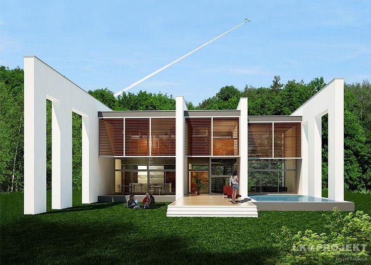 Projekty domów LK&Projekt LK&993 wizualizacja 2