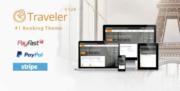 ThemeForest - Traveler - Travel/Tour/Booking WordPress Theme  Free Download