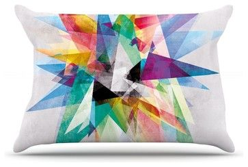 "Mareike Boehmer ""Colorful"" Rainbow Abstract Pillow Case, King (36"" x 20"") contemporary-pillowcases-and-shams"