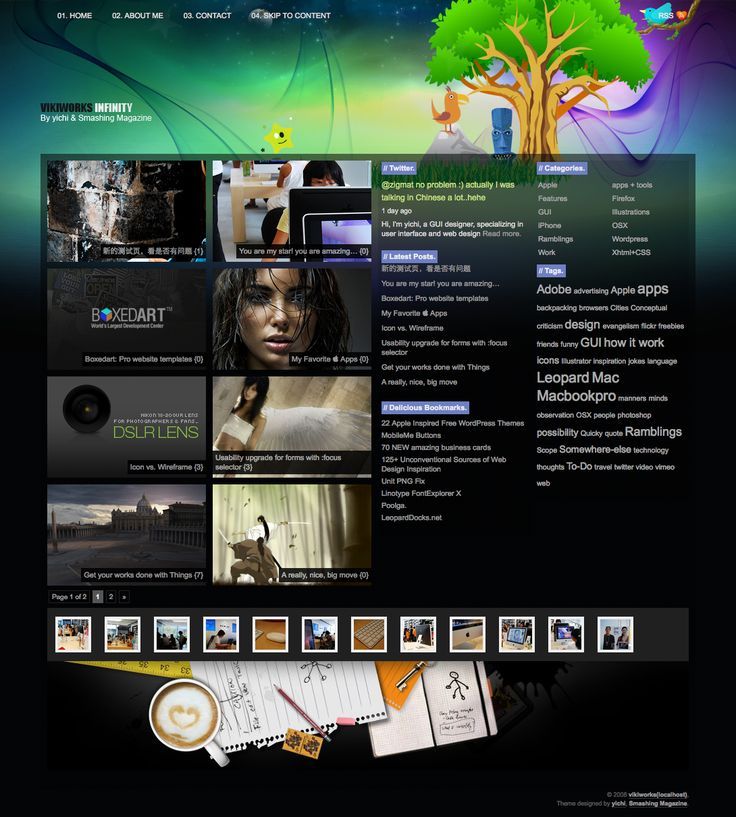 Infinity: A Free Wordpress Theme