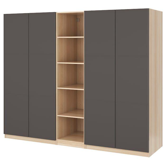 Pax Kleiderschrank Eicheneff Wlas Meraker Dunkelgrau Ikea