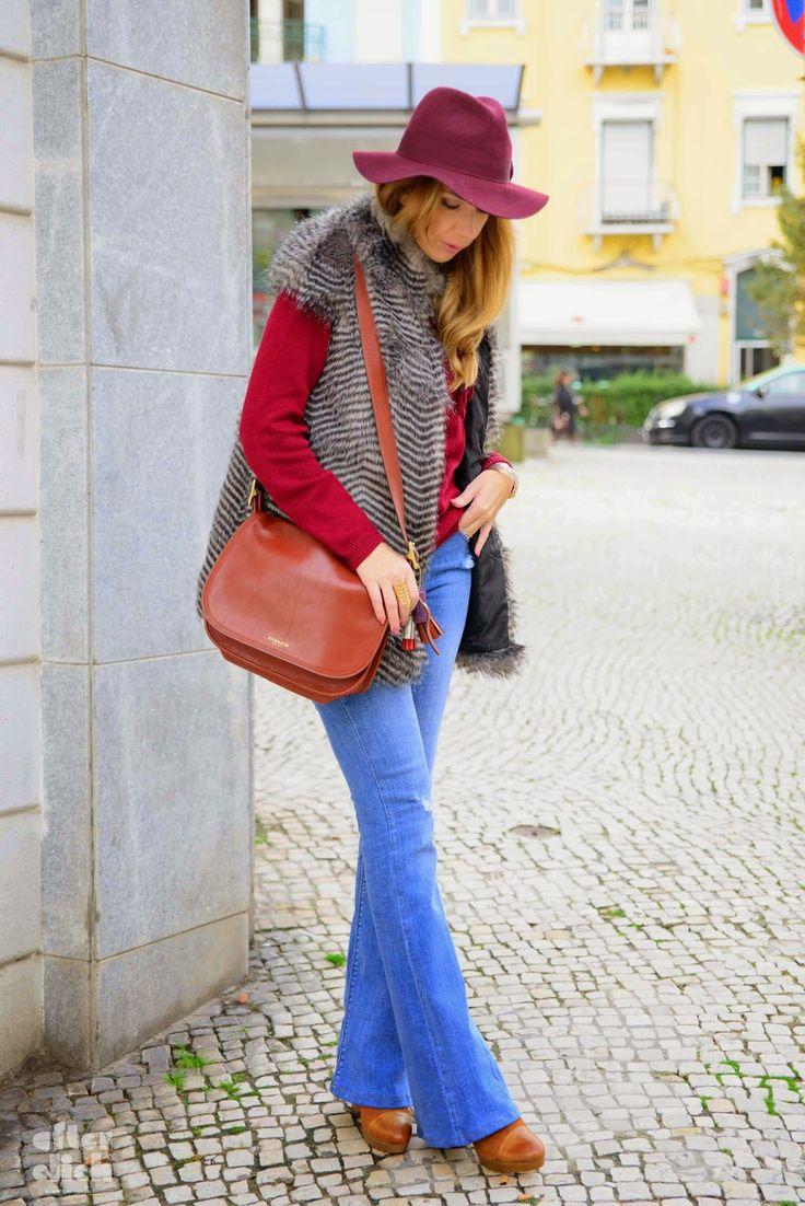A Pipoca Mais Doce: Hoje deu-me para isto #240 Jeans: Zara | Camisola: Stradivarius | Colete: Sfera | Chapéu: H&M (antigo) | Pulseira, anel ecolar: A Pipoca Mais Doce by Loja das Jóias | Botins: Zilian (antigos) | Carteira: Coach
