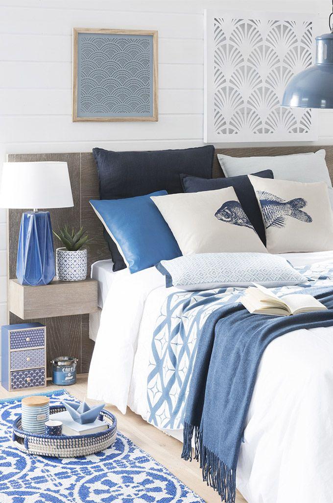 tendance capri bord de mer maisons du monde chambre bleu - Decoration De Chambre En Bleu