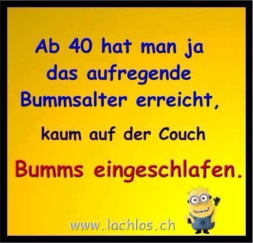 Ab 40 Älter werden Bumms Bummsalter Geburtstag 40. Geburtstag