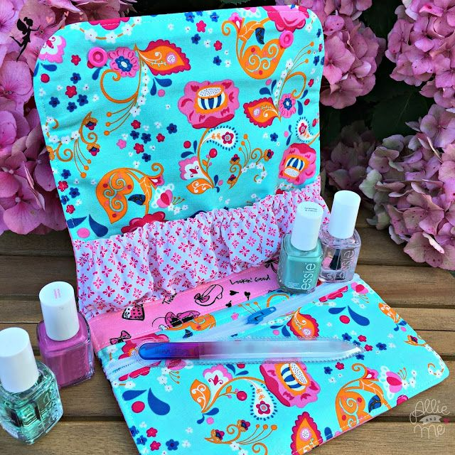 Allie & Me design: Snappy Manicure Pouch ★ FreeBook ★ Ich packe meinen Koffer ...