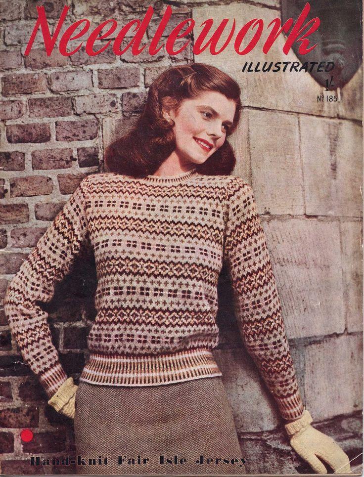 The Vintage Pattern Files: 1940's Knitting - Fair Isle Jumper
