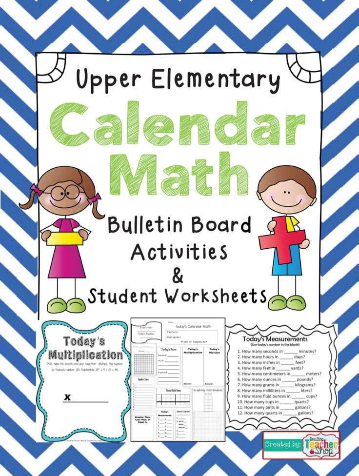 Calendar Activities For Elementary Students : Calendar math for upper elementary lots of