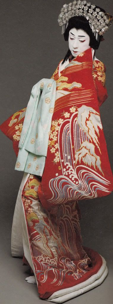 Bando Tamasburo, male kabuki legend by Kishin Shinoyama