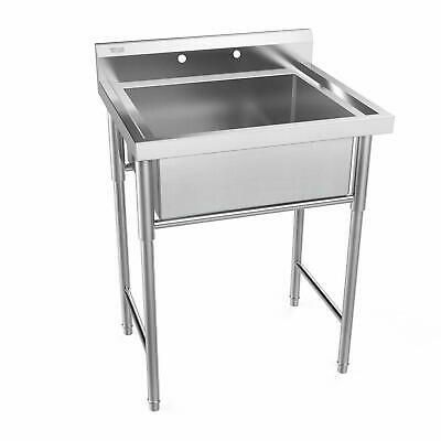 30 Stainless Steel Utility Commercial Square Kitchen Sink Large