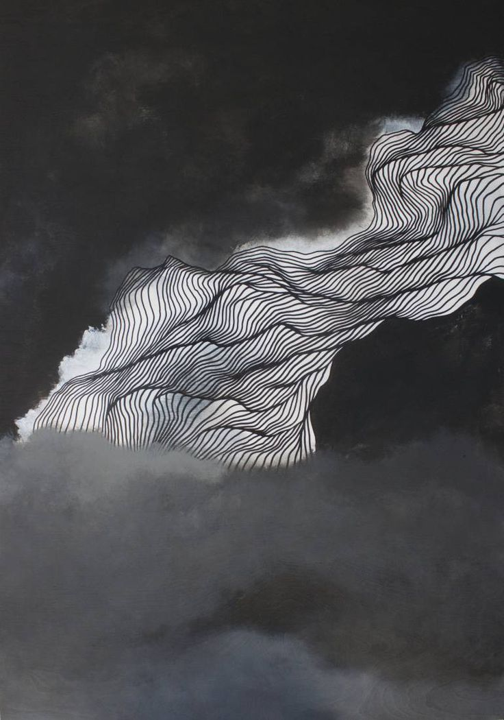 Cinder and Smoke, Tracie Cheng -  Painting: Acrylic and Oil on Wood. Size: 40 H x 28 W x 1.5 in The sky above the cloud line during the Baltimore Riots. Such a dark and hard time, as people chose to respond differently to the injustice(s).