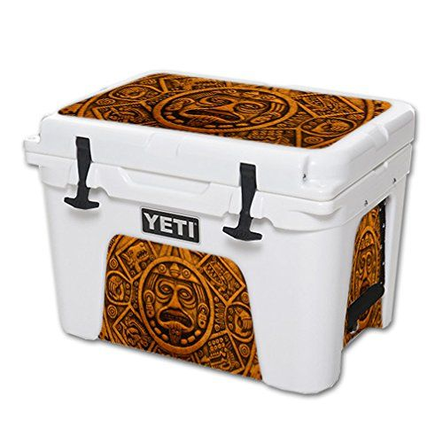 MightySkins Protective Vinyl Skin Decal for YETI Tundra 35 qt Cooler wrap cover sticker skins Carved Aztec *** See this great product.(This is an Amazon affiliate link and I receive a commission for the sales)