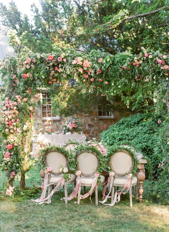Custom wedding arbor with peonies, garden roses and vine: http://www.stylemepretty.com/2016/09/29/see-a-wedding-workshop-inspired-by-garden-roses/ Photography: Jodi and Kurt - http://www.jodiandkurt.com/
