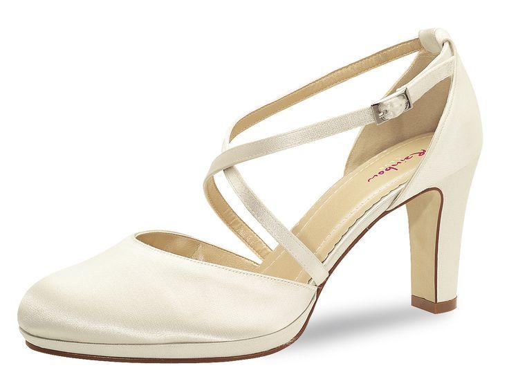Brautschuhe Modell Olaila von Elsa Coloured Shoes. Satinschuh in edlem ivory.