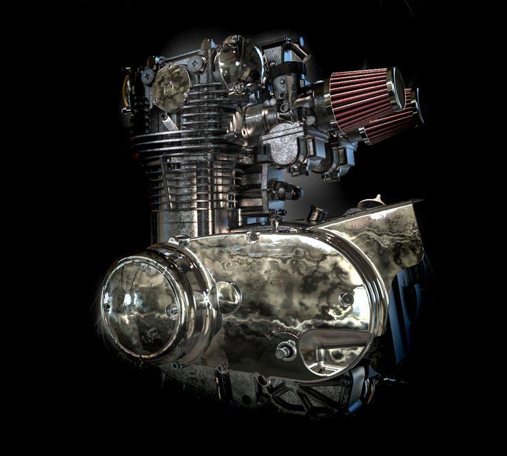 Yamaha engine from GrabCAD. Rendered in KeyShot6 Beta by Magnus Skogsfjord
