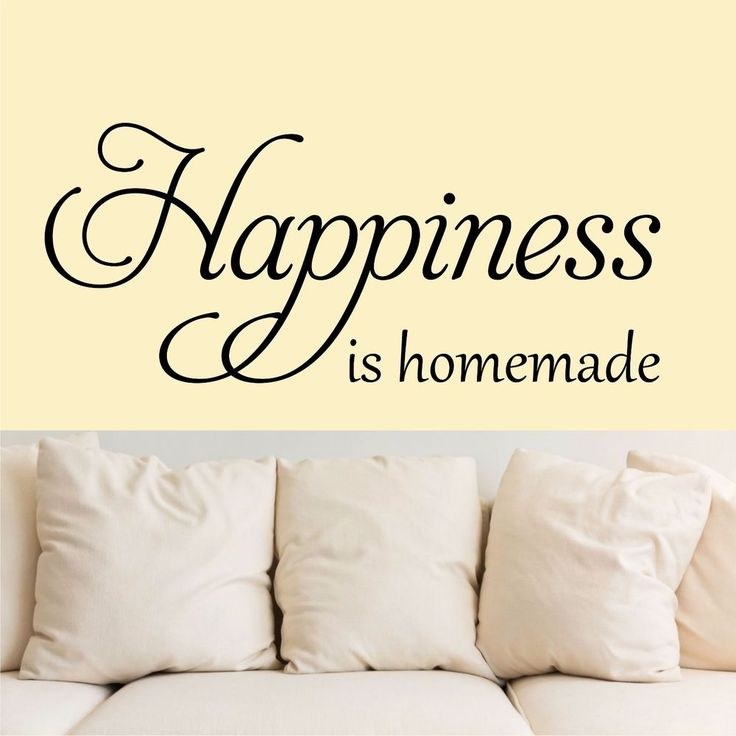 Happiness is homemade - Wall Art Decal Stickers Quality New