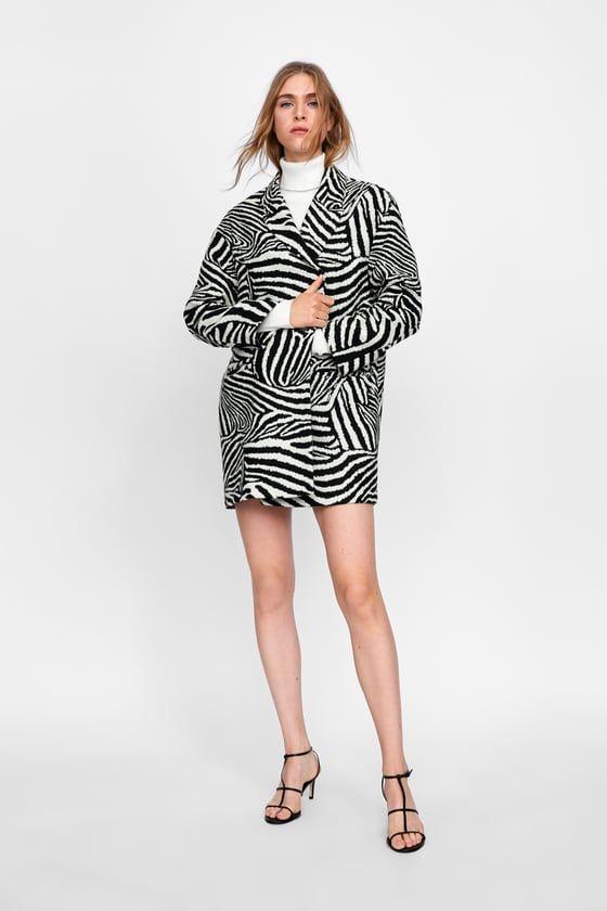 3b6909c33018 BLAZER OVERSIZE JACQUARD ANIMAL | clothes | Fashion, Animal print ...