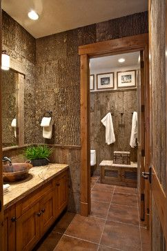 Rustic Bathroom | Bark Design Ideas, Pictures, Remodel, and Decor - page 6