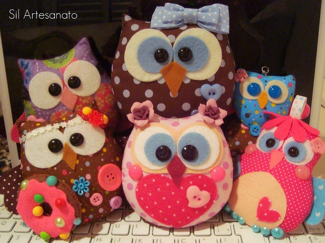 Beautiful Felt Owls