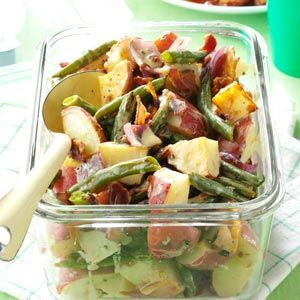 Roasted Potato & Green Bean Salad Recipe -I made this salad to take…