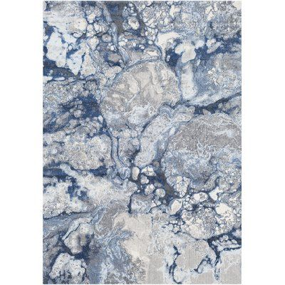 Williston Forge Candelaria Abstract Bright Blue Navy Area