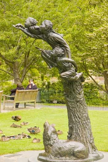 Peter Pan Sculpture. Botanic Garden. Dunedin. New Zealand