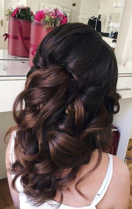 Tremendous marriage ceremony hairstyles half up half down darkish concepts #Weddinghairstyles