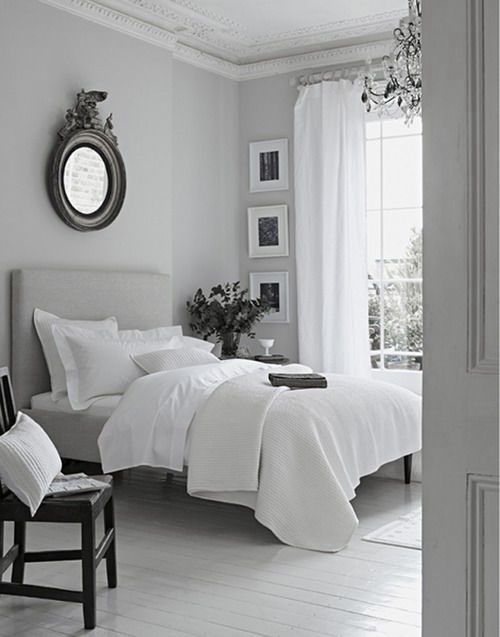 Grey And White Bedrooms Enchanting Best 25 White Grey Bedrooms Ideas On Pinterest  Grey And White . Design Decoration