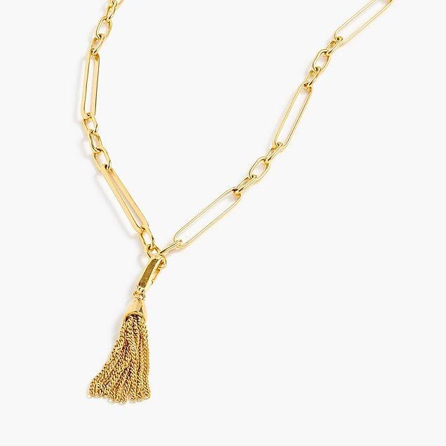 01b146513e1 Demi-fine 14k gold-plated tassel charm - Women's Jewelry | J.Crew ...