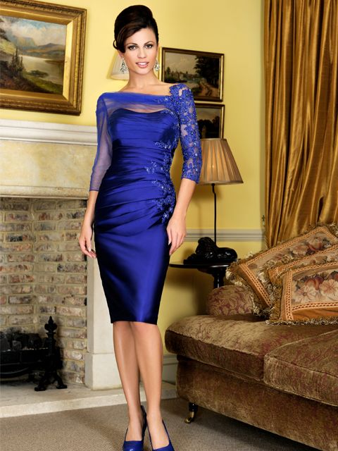 This striking Irresistible dress has a silk effect fabric with beautiful embellishment on the lace organza sleeves. In a electric blue shade of colour, this dress is vibrant and fabulous. Product code IR1275.  View more Mother of the Bride / Groom dresses from our Irresistible collection at: http://www.baroqueboutique.co.uk/mother-of-the-bride-south-wales/  Photographs courtesy of: http://www.irresistibleuk.com/