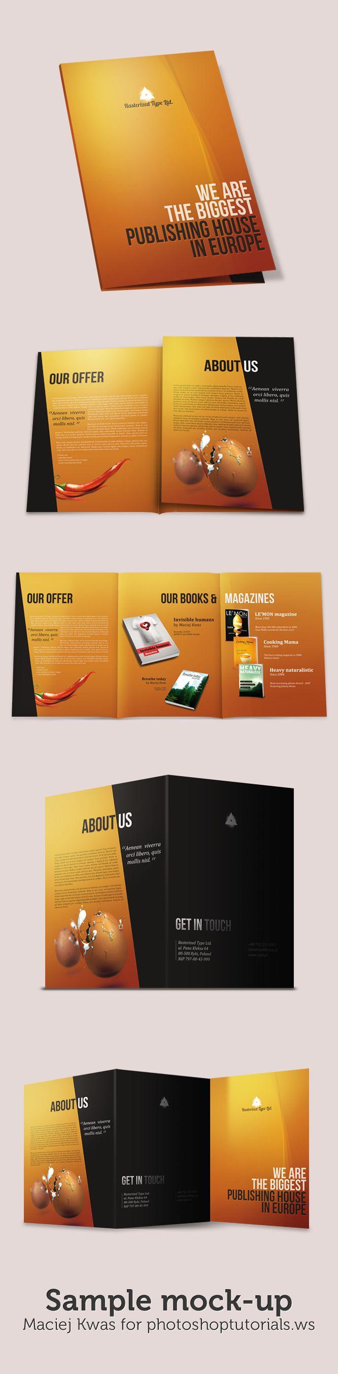 Уроки Photoshop: Разработка макета складывающейся брошюры