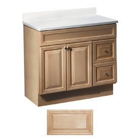 Insignia Ridgefield Natural Maple Traditional Bathroom Vanity (Common:  36 In X 21