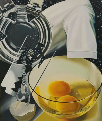 """James Rosenquist, Untitled, 1980. James Rosenquist, On Disconnected Images: """"By the time I was a teenager I'd found my way out by picking up pieces here and there, like clues to a puzzle. I'd found a way of looking at the world as disconnected images brought together for an unknown purpose. Without realizing it, I deliberately sought out the incongruities that would match my memories."""""""