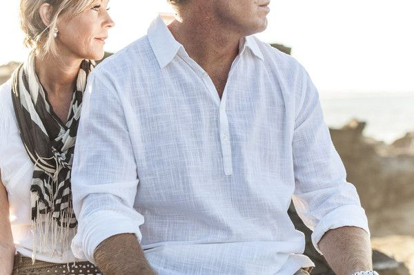 Bermuda, Miami, Noosa or Bali this is THE vacation shirt. 100% cotton 3 button long sleeve.