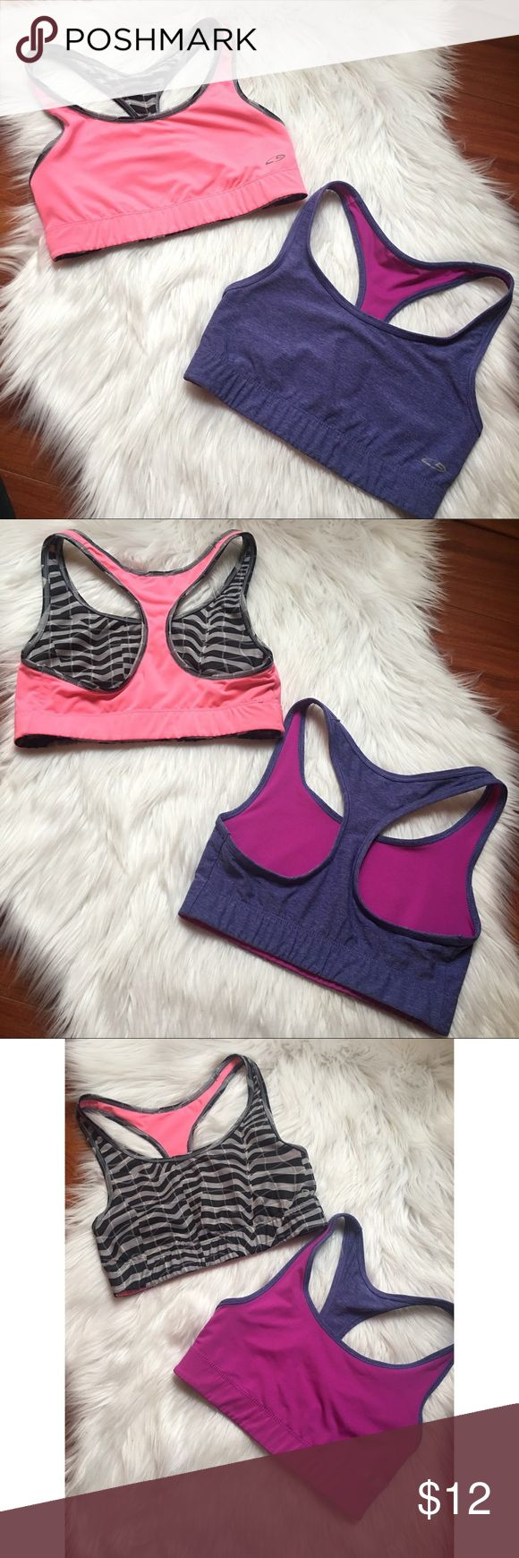 Set of 2 reversible Champion sports bras Two reversible sports bras size XS. Doesn't have tags to show the size b/c of the reversible design. Can be sold as a set or bought individually for 6$ each. Previously worn with care. Great condition, no stains. Champion Intimates & Sleepwear Bras
