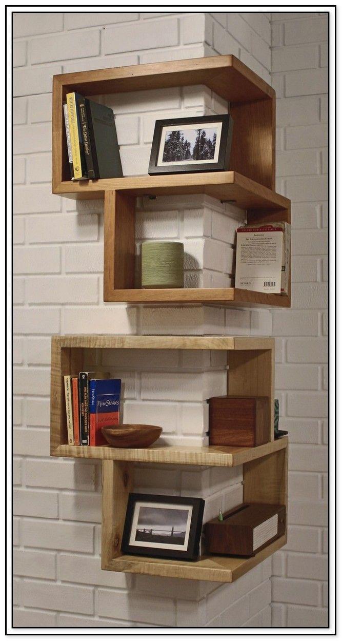 33 Cool Decorating Ideas With Live Edge Wood Wood Corner Shelves Corner Shelves Living Room Diy Corner Shelf
