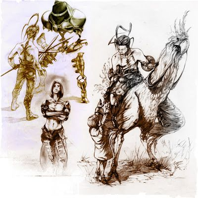Sketches inspired from Vagrant Story.