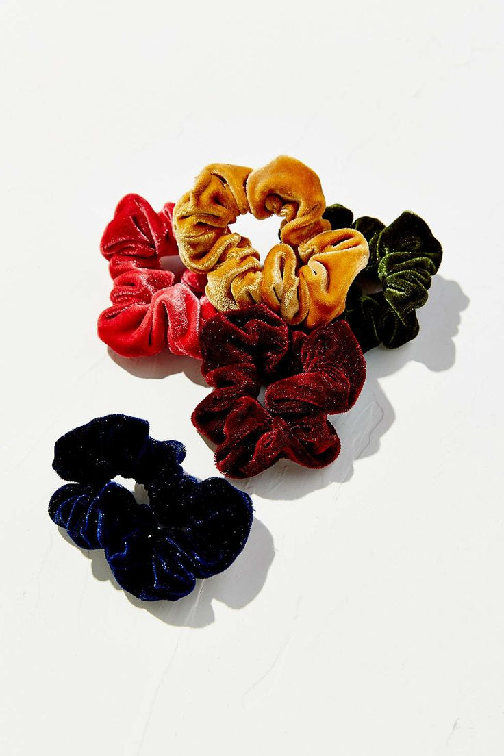 Velvet Hair Scrunchy Set