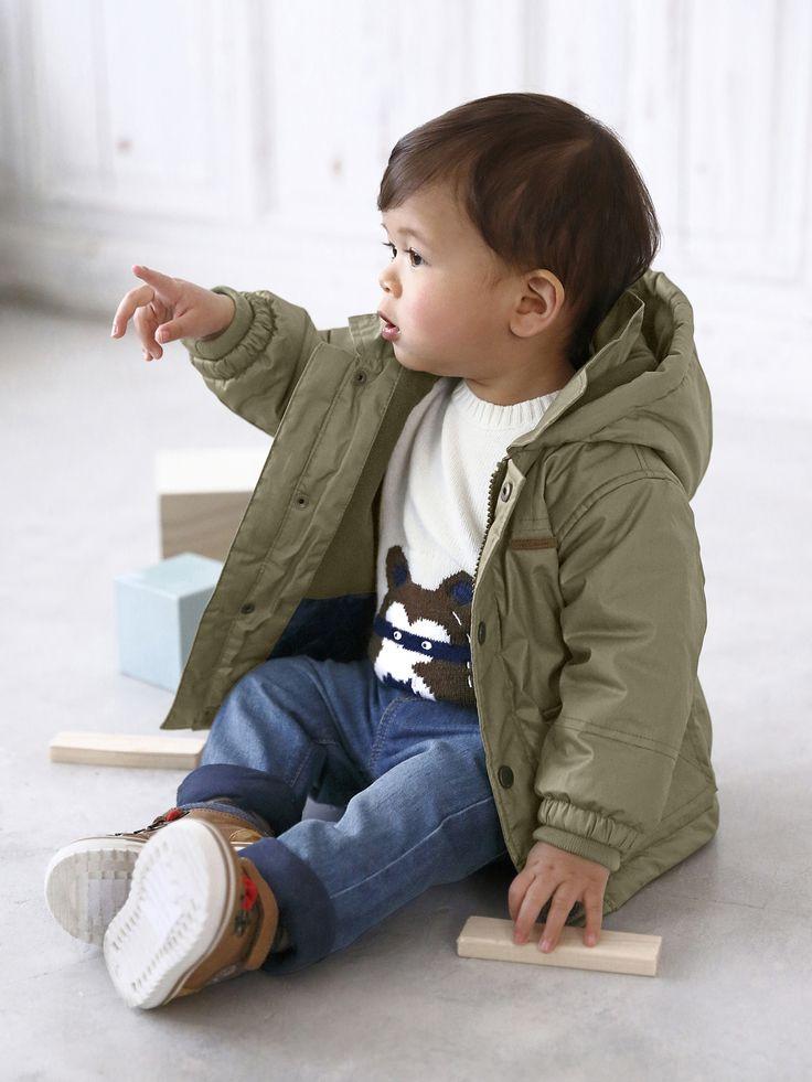 Baby Jungen Winterjacke mit Fleecefutter von Vertbaudet in marine - Nur € 2,95 Versand! Babymode jetzt bei Vertbaudet bestellen!