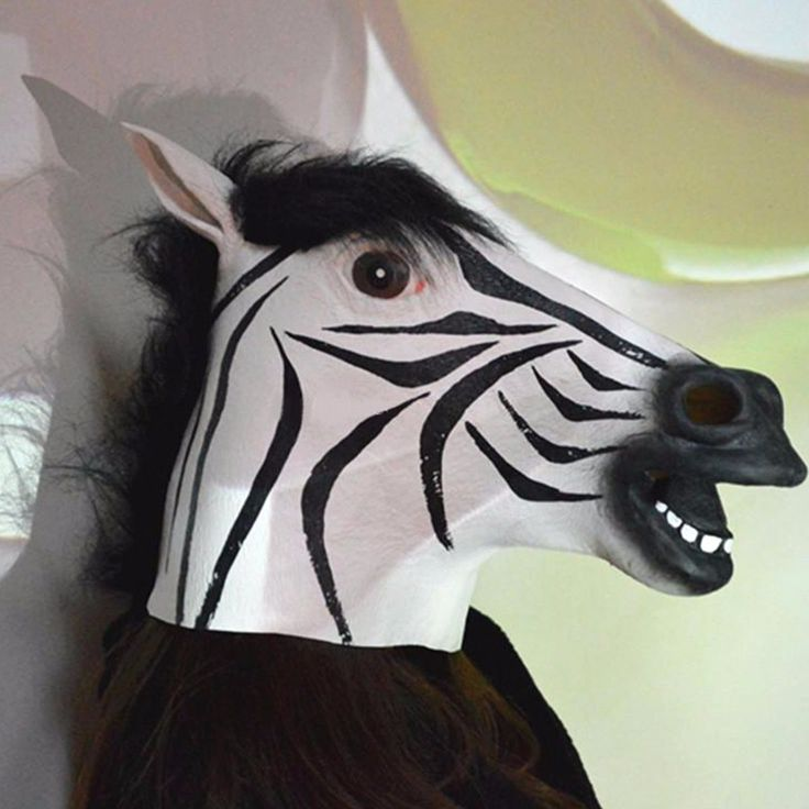 Top Grade Halloween mask realistic latex horse head /Interesting funny party masquerade masks silicone face Zebra mask