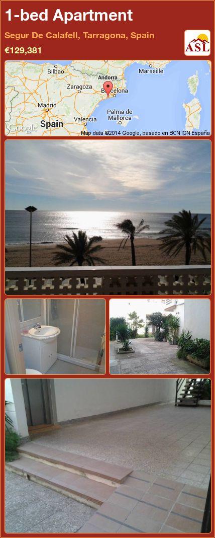 1-bed Apartment in Segur De Calafell, Tarragona, Spain ►€129,381 #PropertyForSaleInSpain