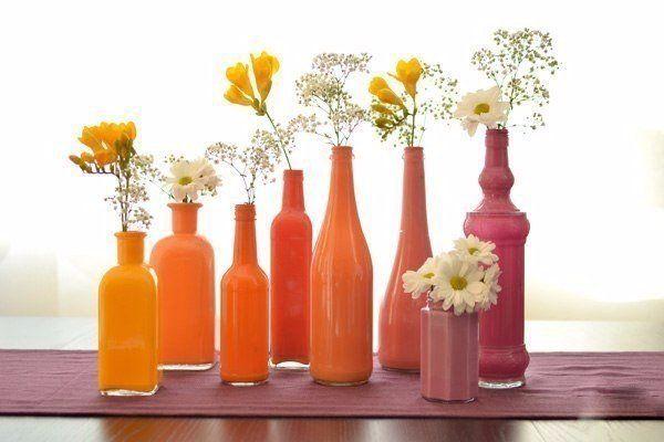 Идея ярких вазочек для декора #вазы #декор #будем_делать