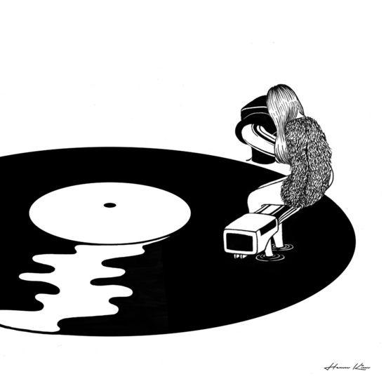 """""""""""No se limite a escuchar, sentir"""""""" Artist: Henn Kim Illustration"""