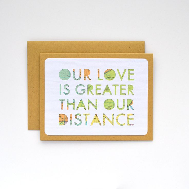 This card honors the unique strength of long distance relationships. Unlike printed art, each of my greeting cards are individually cut from textured white cardstock and hand assembled. I aim to creat