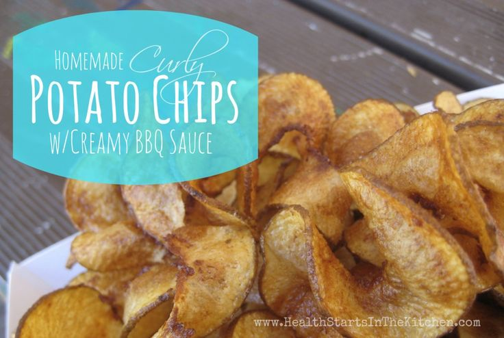 Homemade Curly Potato Chips with Creamy BBQ Dip