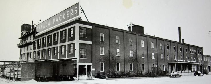 Circa 1945 ~ Canada Packers Plant on George Street, where the Holiday Inn is now