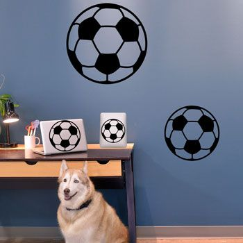 Soccer Ball Removable ChalkTalkGraphix Wall Decal, coolest soccer wall  stickers