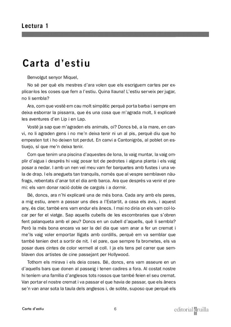 Textos comprensió lectora català  Série de textos que permeten comprovar el nivell de comprensió lectora d'alumnes de 5è.